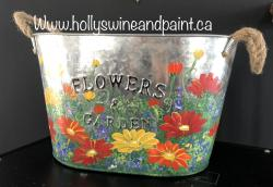The image for Bucket of Daisies Homestyles Show Painting Class $30+tx full price
