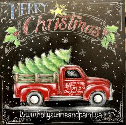 The image for Merry Christmas Truck Wine and Paint Deposit ($30 due at class for a total of $45)